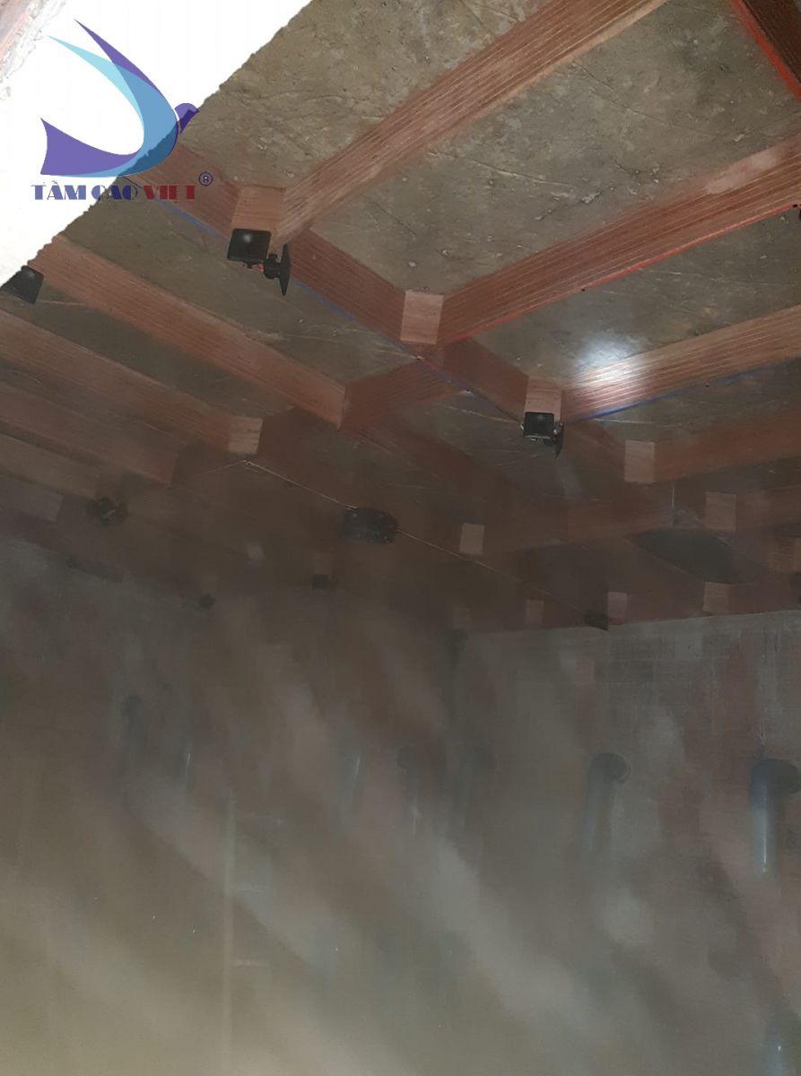 Hệ thống loa trong nhà yến được lắp đặt, bố trí một cách hợp lý