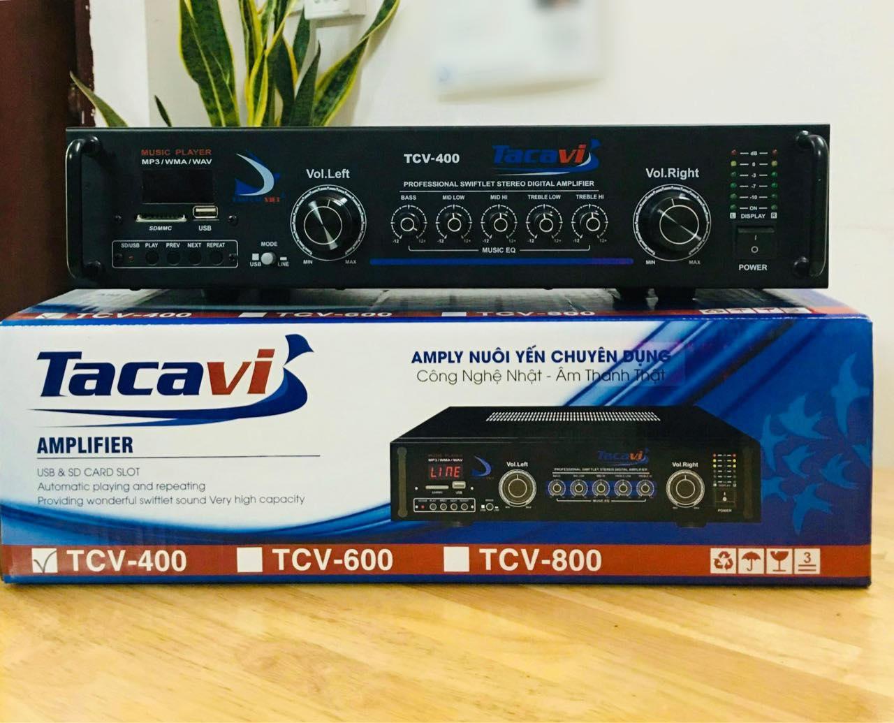 amply TCV-400 chuyên dùng cho nhà yến